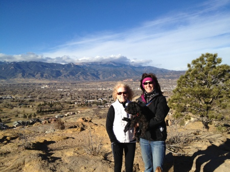 Today. My BFF, Donna. Pikes Peak in the background.